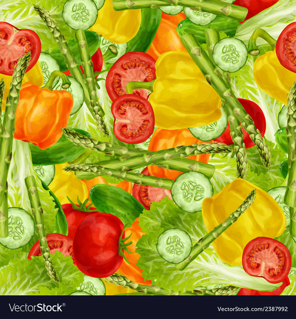 Vegetables mix seamless background vector | Price: 1 Credit (USD $1)