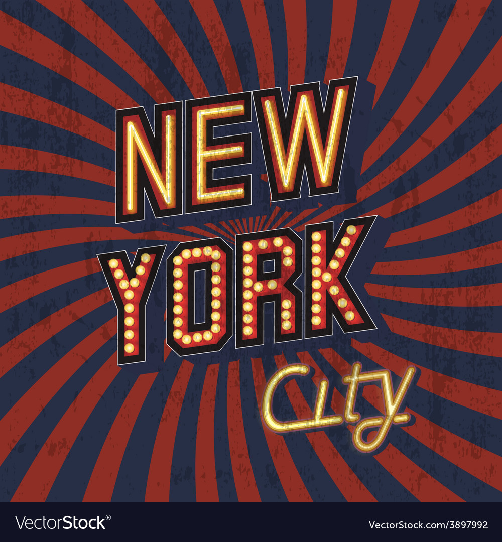 Vintage new york poster vector | Price: 1 Credit (USD $1)