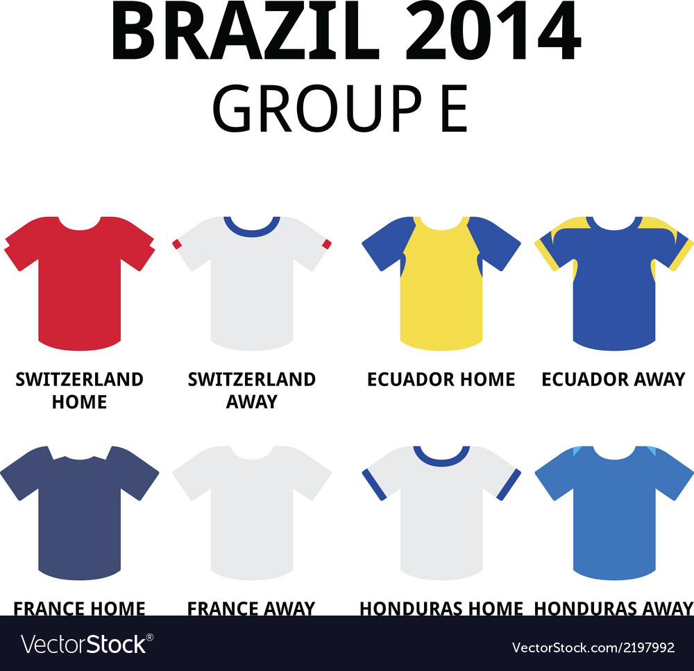 World cup brazil 2014 - group d teams jerseys vector | Price: 1 Credit (USD $1)