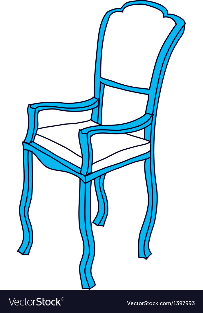 A chair is placed vector | Price: 1 Credit (USD $1)