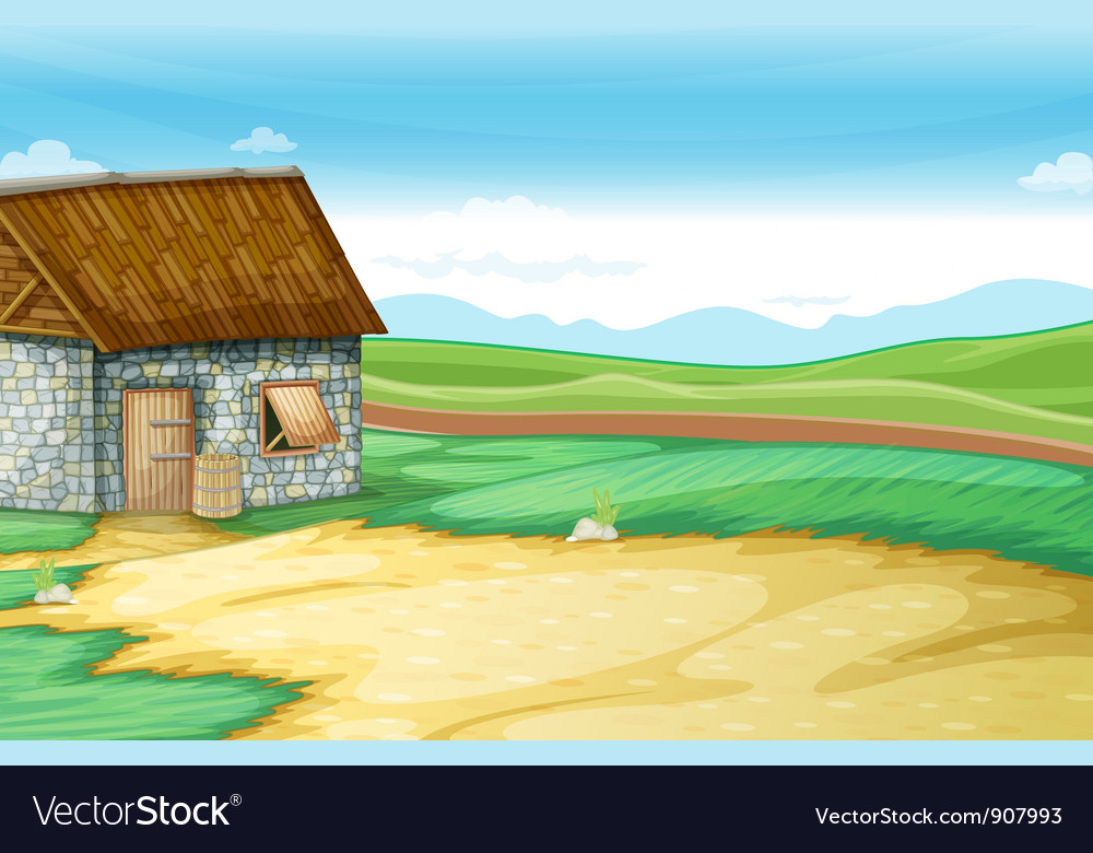 Barn scene vector | Price: 3 Credit (USD $3)