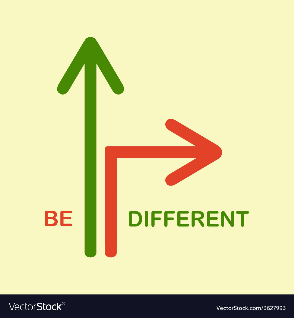 Be different vector | Price: 1 Credit (USD $1)