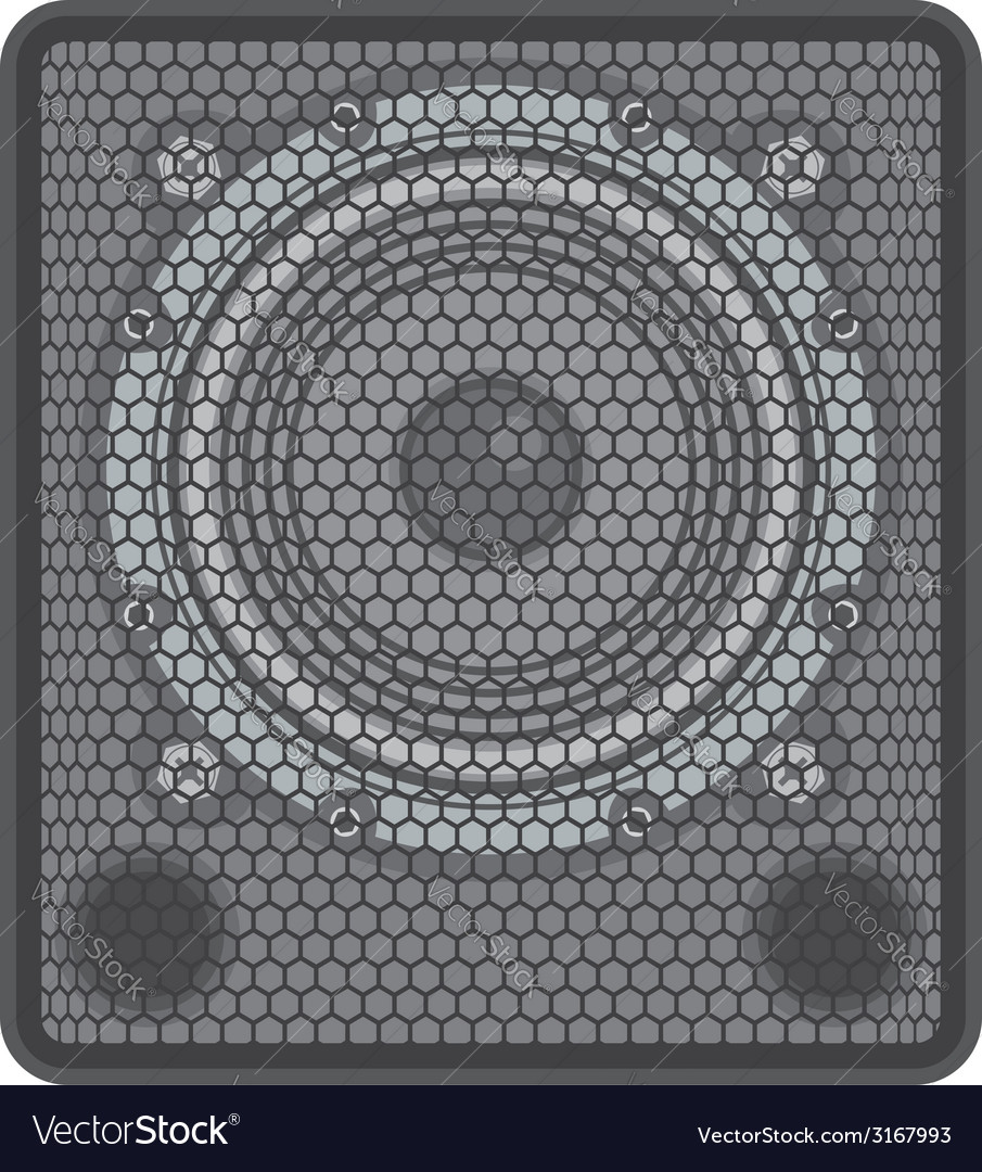 Concert subwoofer speaker vector | Price: 1 Credit (USD $1)