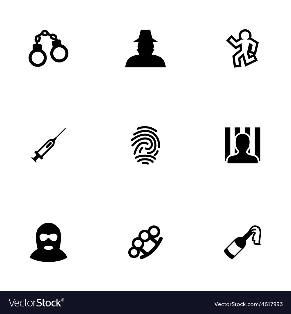 Crime 9 icons set vector | Price: 1 Credit (USD $1)