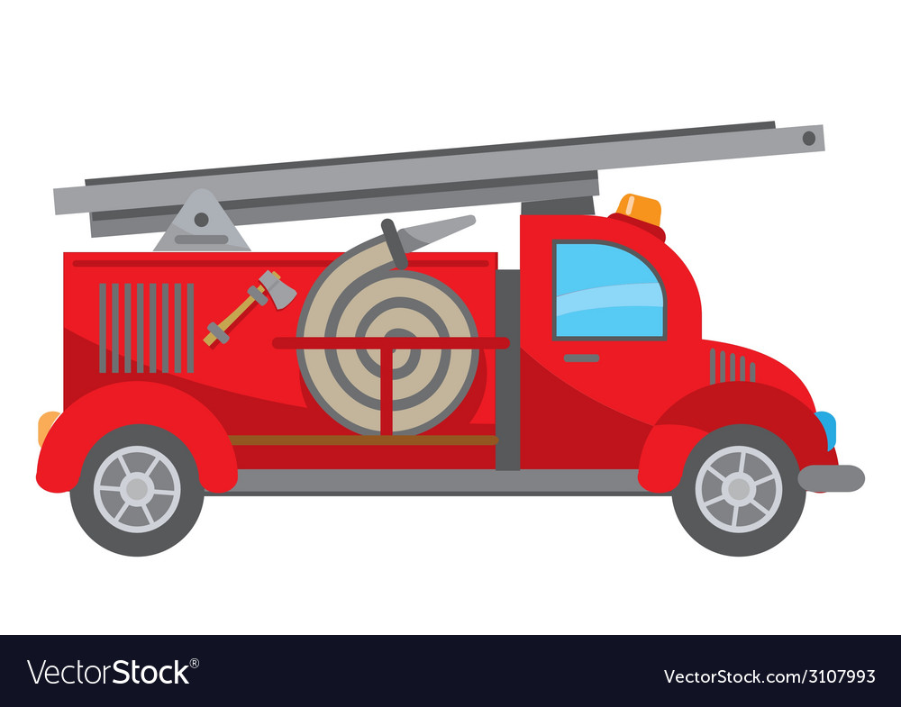 Fire truck cartoon vector | Price: 3 Credit (USD $3)