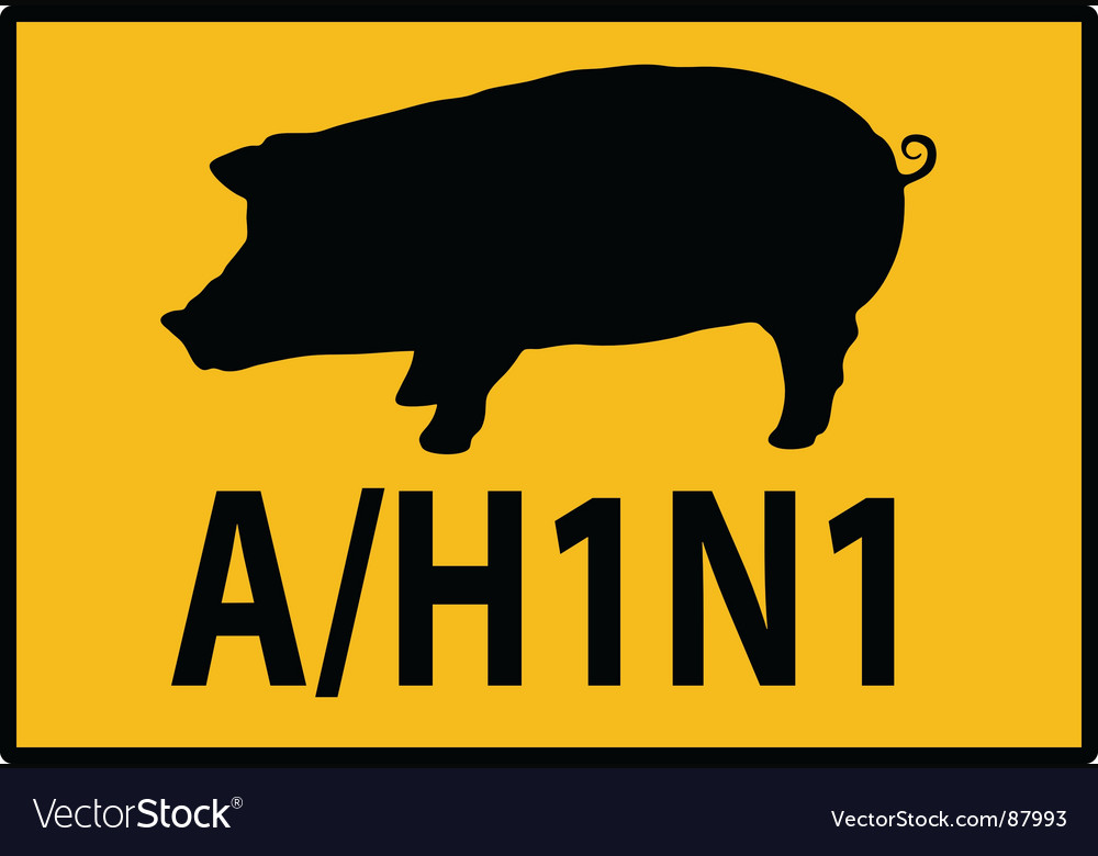 H1n1 swine flu sign vector | Price: 1 Credit (USD $1)