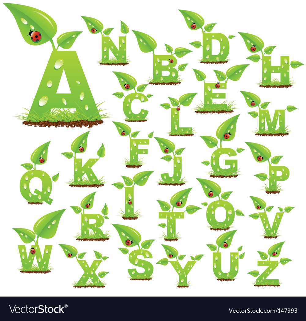 Nature letters vector | Price: 1 Credit (USD $1)