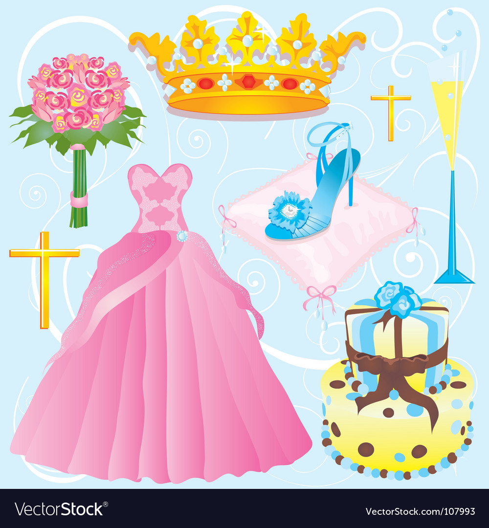 Quinceanera clip art vector | Price: 3 Credit (USD $3)