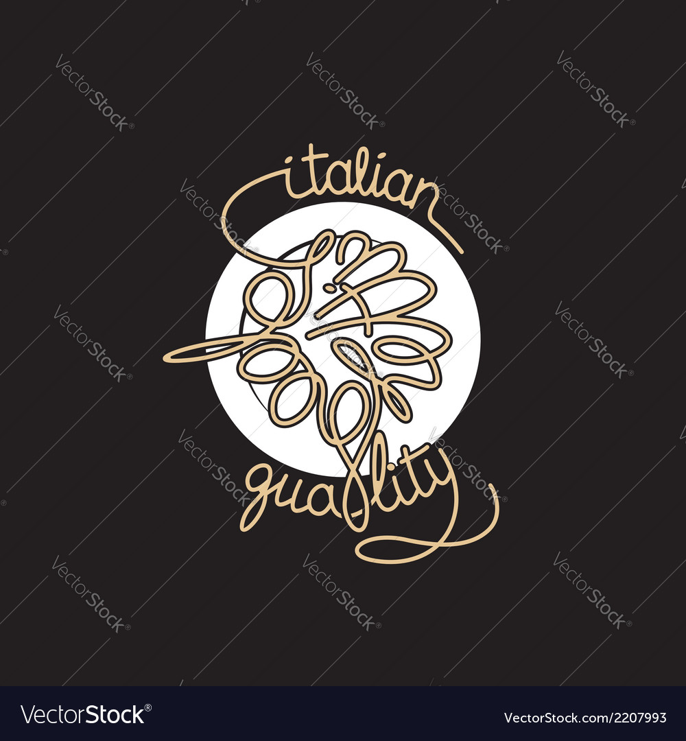 Spaghetti icon vector | Price: 1 Credit (USD $1)
