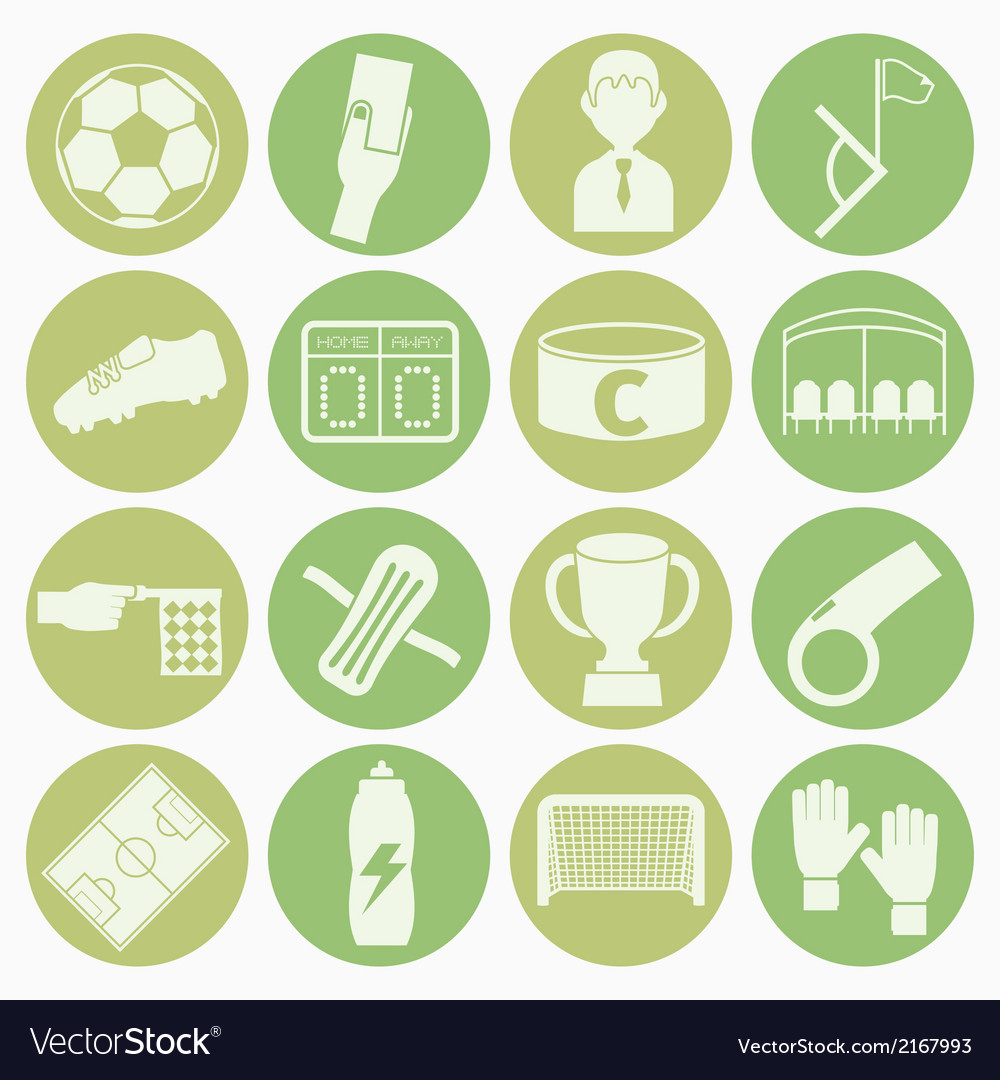 White icons soccer vector   Price: 1 Credit (USD $1)