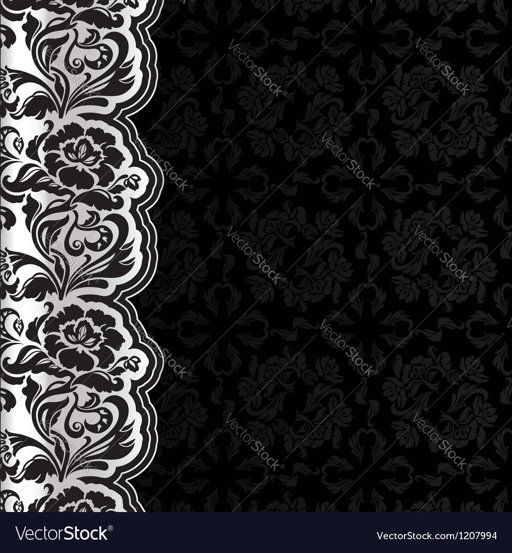 Background with lace dark square vector | Price: 1 Credit (USD $1)