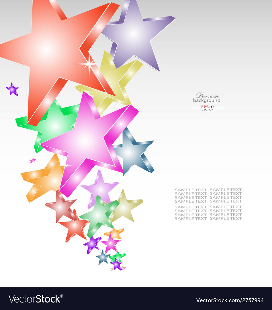 Candy stars creative background vector | Price: 1 Credit (USD $1)