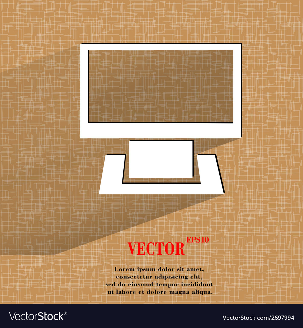 Computer flat modern web button on a flat vector | Price: 1 Credit (USD $1)