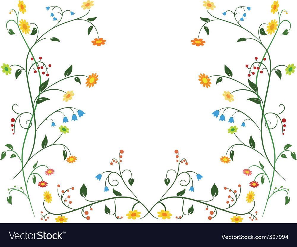 Floral flower ornament vector | Price: 1 Credit (USD $1)