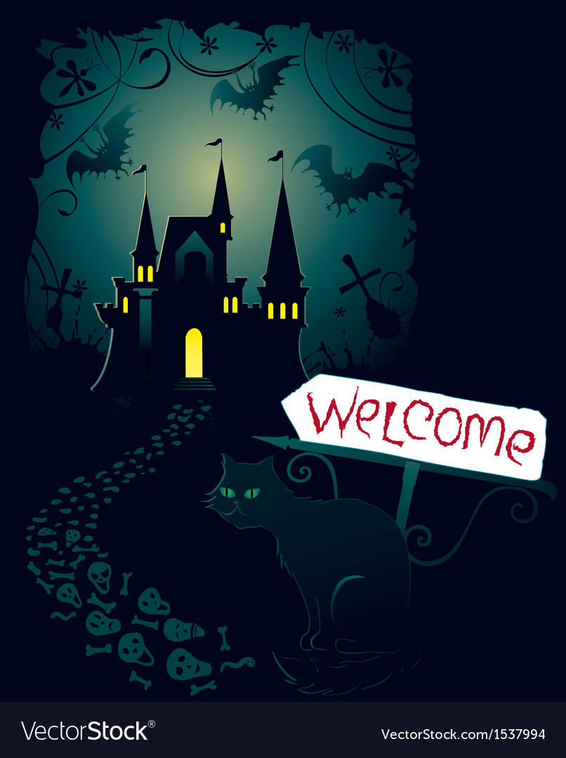 Invitation for halloween party vector | Price: 1 Credit (USD $1)