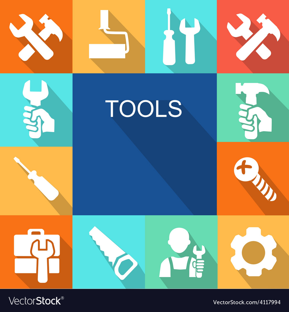 Repair and construction working tools icon vector | Price: 1 Credit (USD $1)