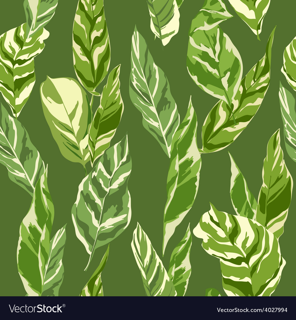 Tropical leaves background vector | Price: 1 Credit (USD $1)