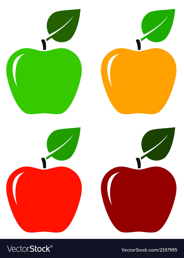 Apple icons set vector | Price: 1 Credit (USD $1)