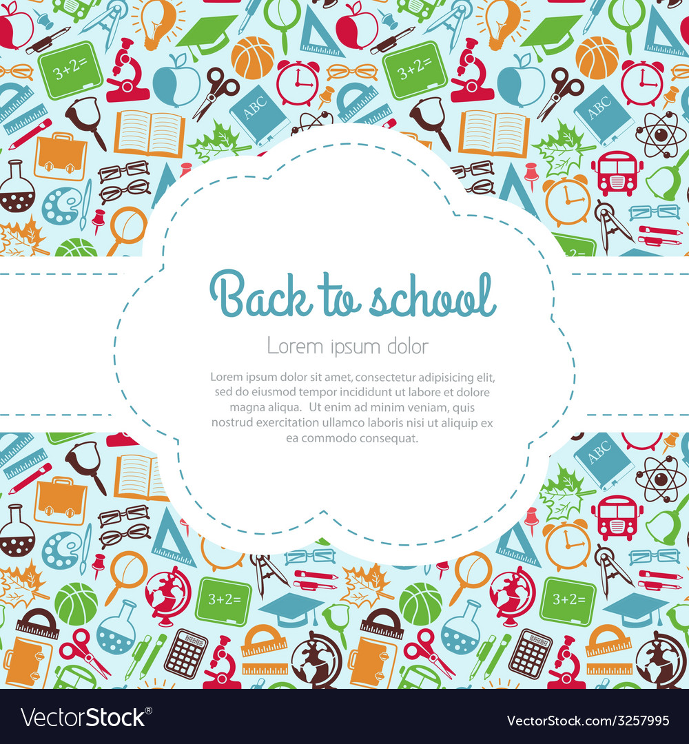 Back to school colorful background with space for vector | Price: 1 Credit (USD $1)