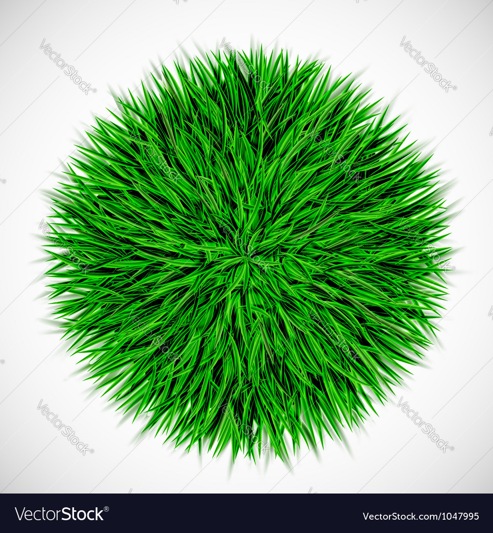 Background with circle of grass vector | Price: 1 Credit (USD $1)