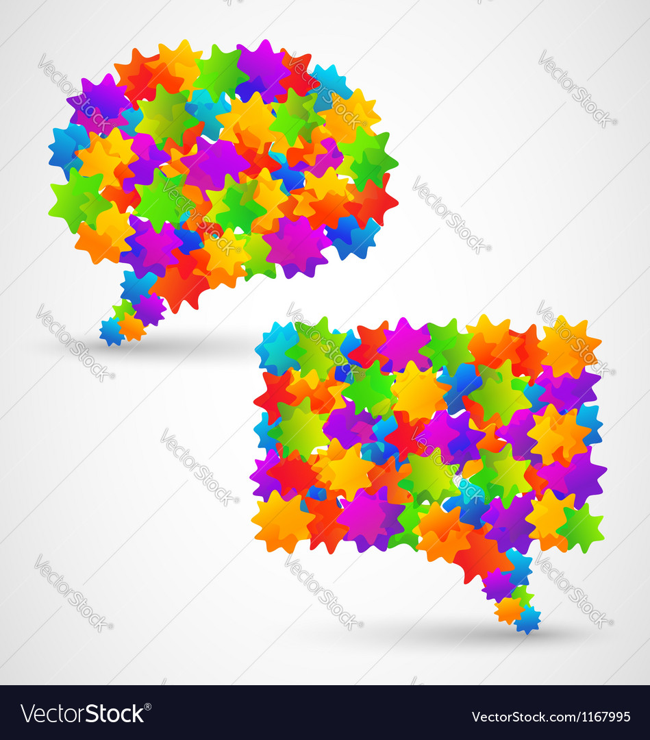 Colorful abstract chat bubbles vector | Price: 1 Credit (USD $1)