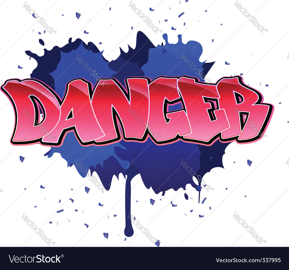 Danger graffiti background vector | Price: 1 Credit (USD $1)