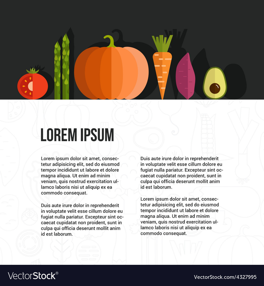Fresh vegetables concept vector | Price: 1 Credit (USD $1)