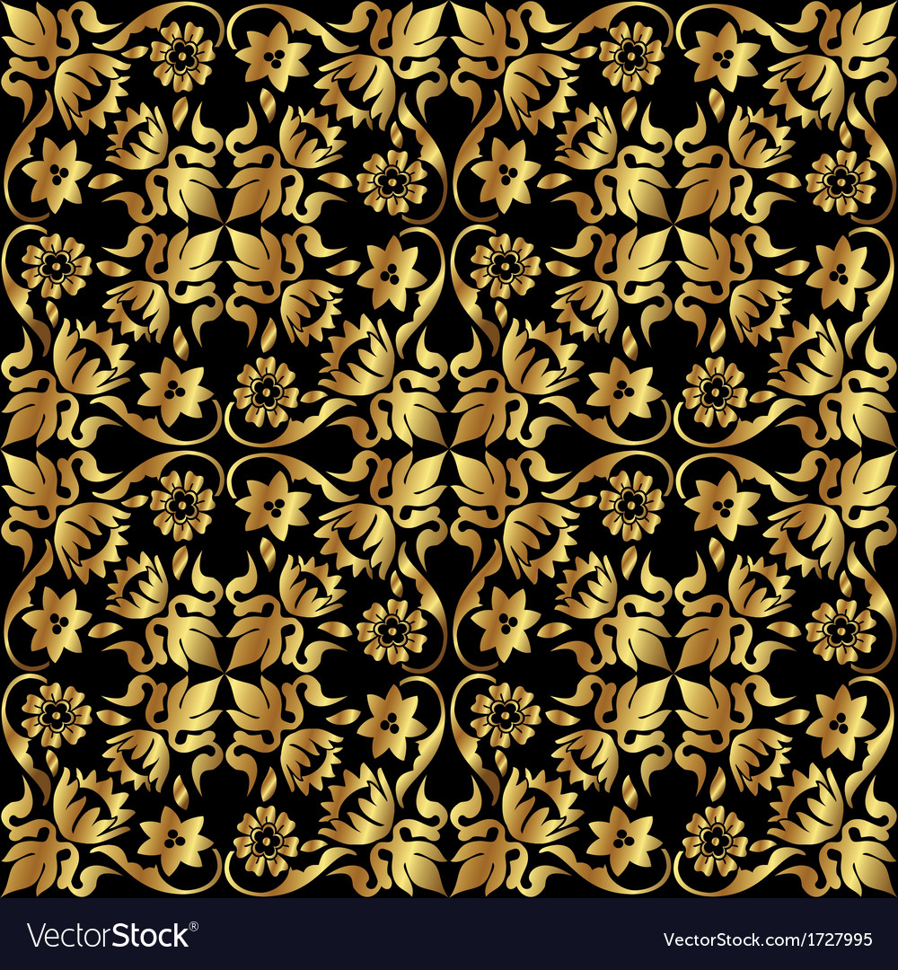 Gold flower pattern vector | Price: 1 Credit (USD $1)