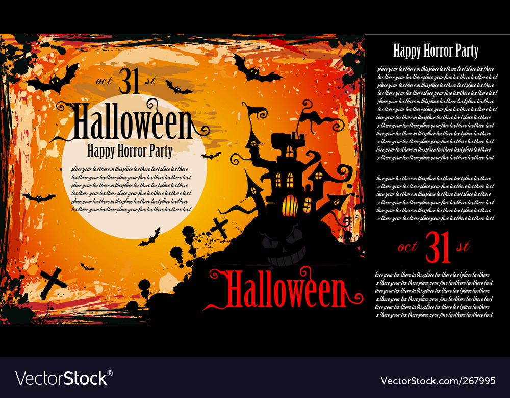 Halloween party flyer vector | Price: 1 Credit (USD $1)