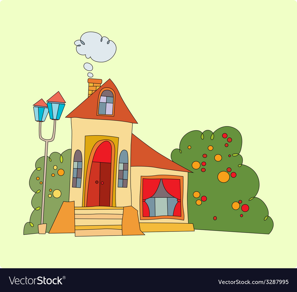 House with big windows vector | Price: 1 Credit (USD $1)