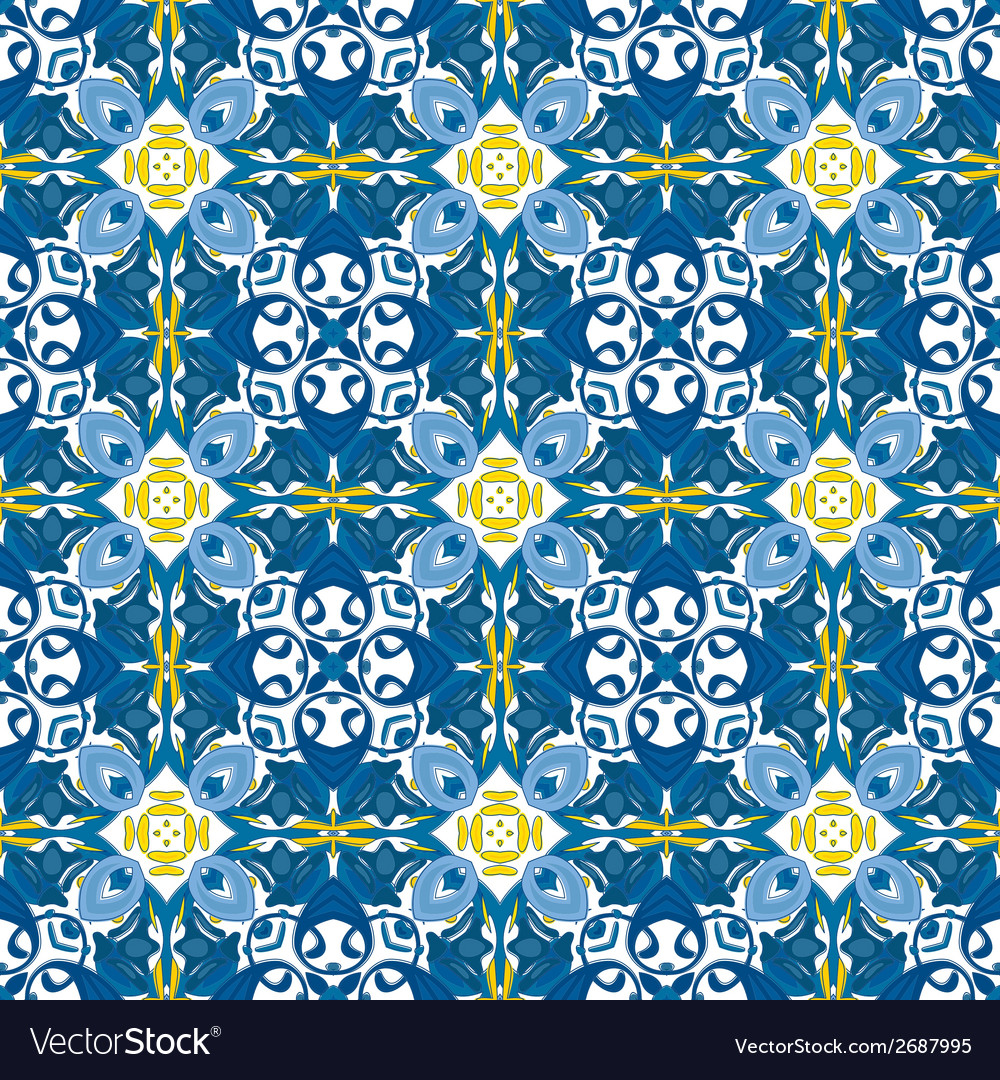 Portuguese tiles vector | Price: 1 Credit (USD $1)