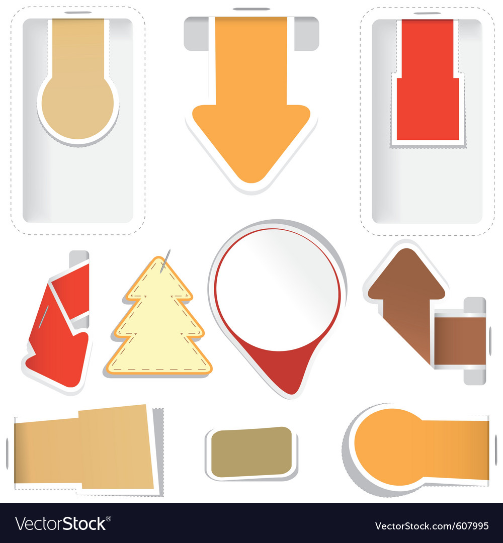 Sticker arrow tags collection vector | Price: 1 Credit (USD $1)