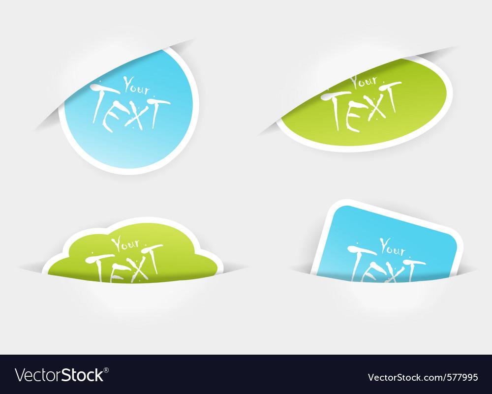 Sticker pockets vector | Price: 1 Credit (USD $1)
