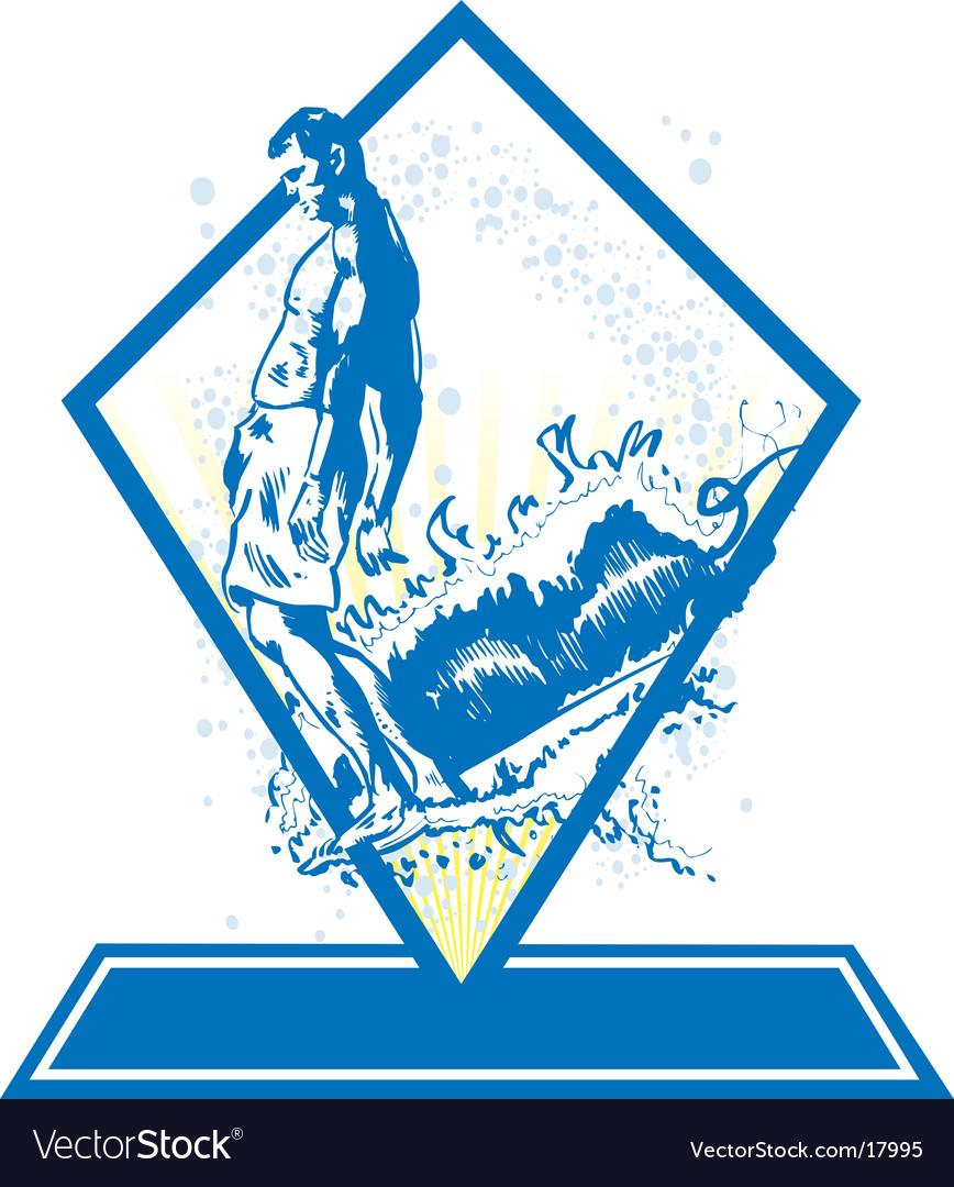 Surf emblem vector | Price: 1 Credit (USD $1)