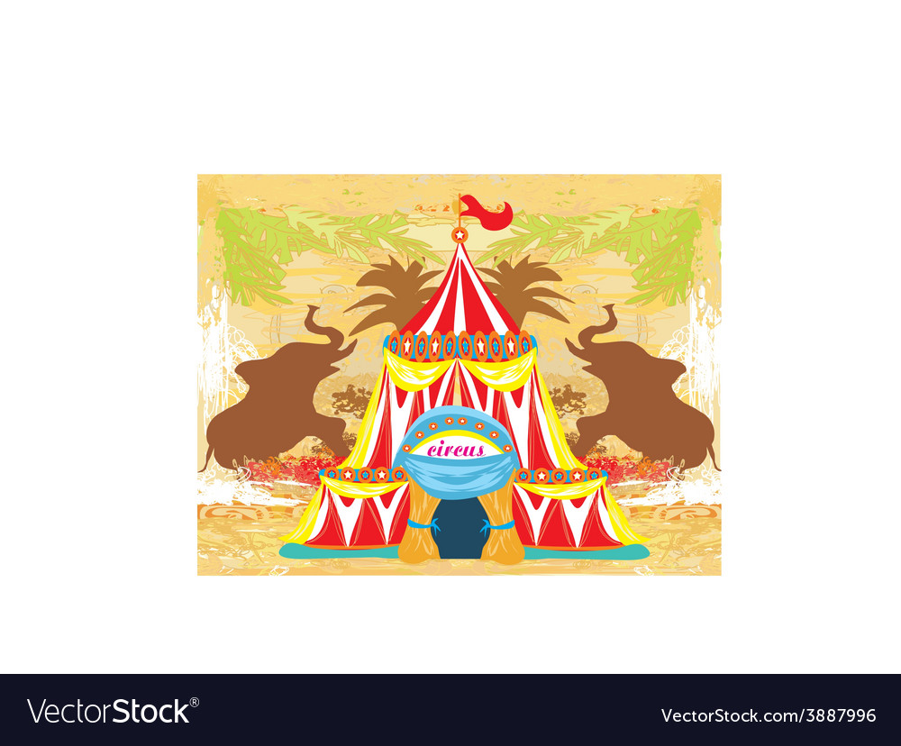 Abstract circus on a grunge background vector | Price: 1 Credit (USD $1)