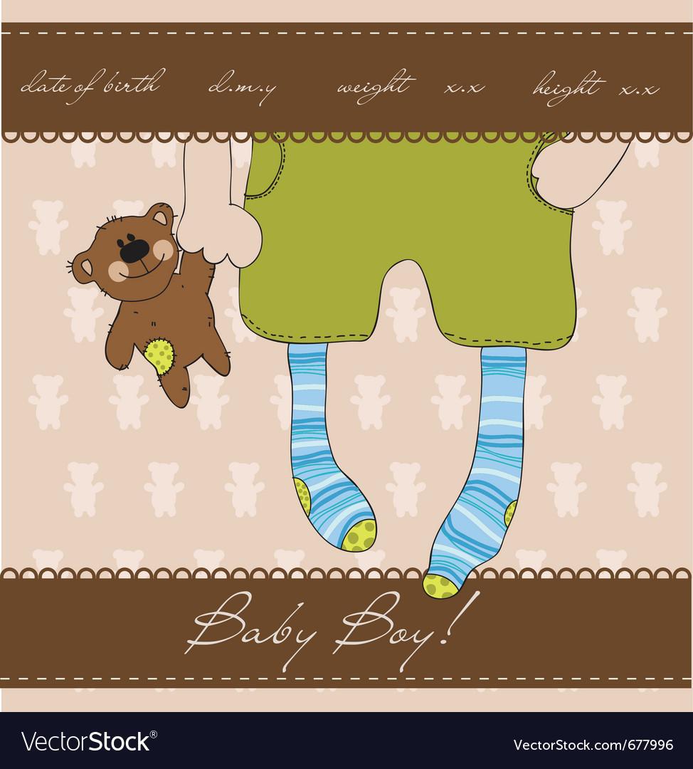 Baby boy card vector   Price: 1 Credit (USD $1)