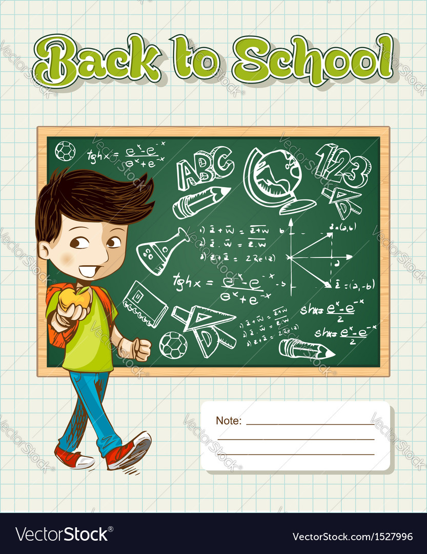 Back to school education cartoon kid vector | Price: 1 Credit (USD $1)