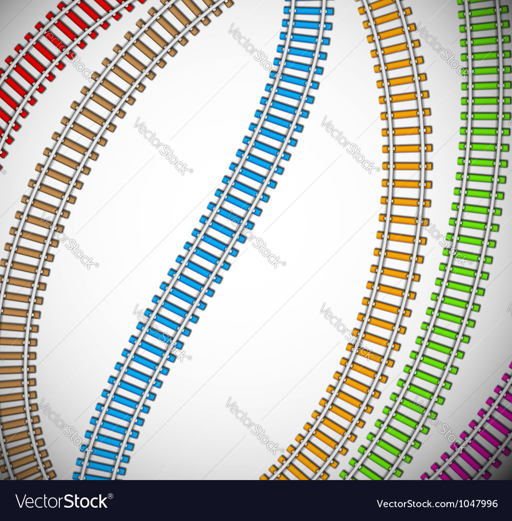 Background with colorful rails vector | Price: 1 Credit (USD $1)
