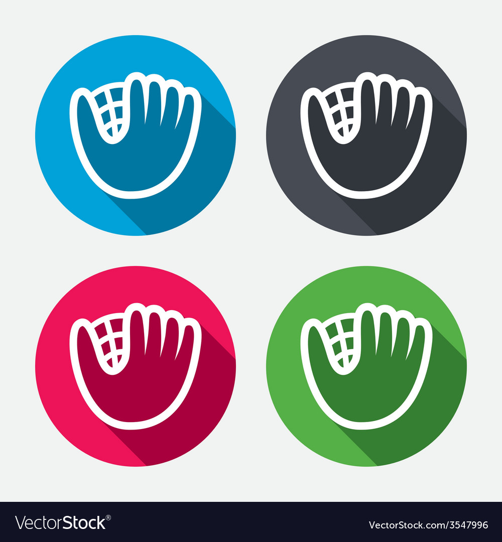 Baseball glove sign icon sport symbol vector | Price: 1 Credit (USD $1)