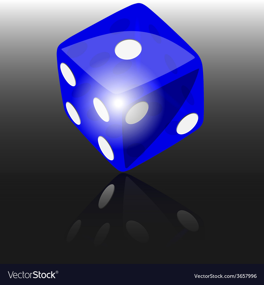 Blue dice vector | Price: 1 Credit (USD $1)