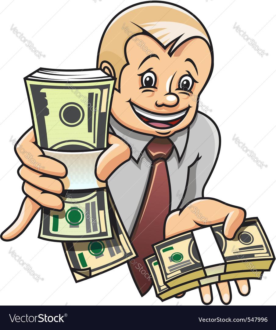 Cheerful businessman vector | Price: 1 Credit (USD $1)