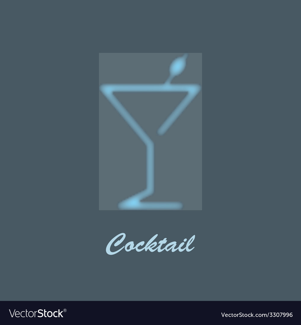 Glass of martini vector | Price: 1 Credit (USD $1)