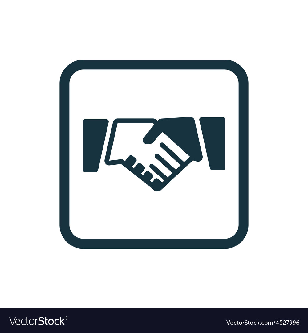 Handshake icon rounded squares button vector | Price: 1 Credit (USD $1)