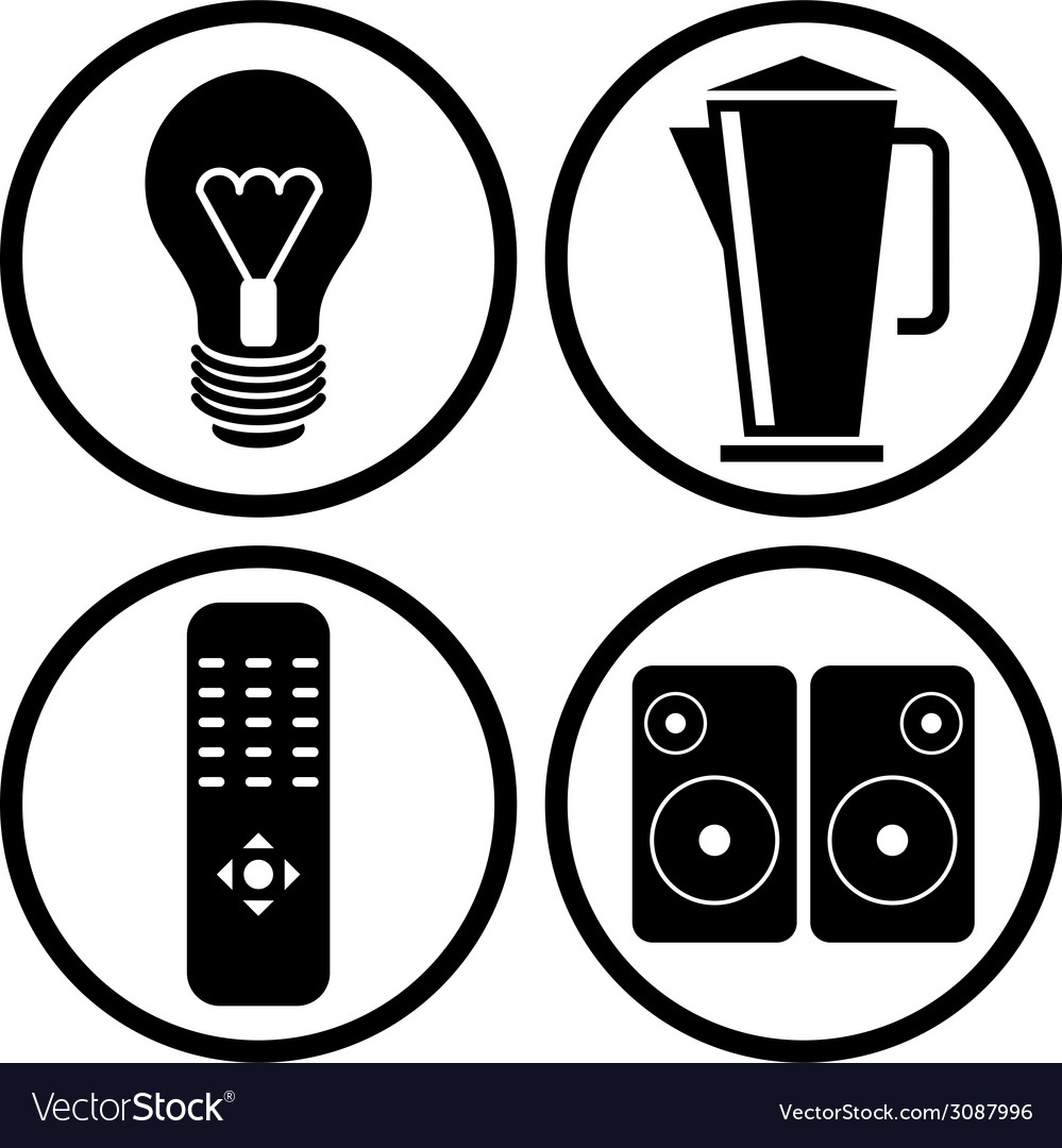 Household appliances icons set 2 vector | Price: 1 Credit (USD $1)
