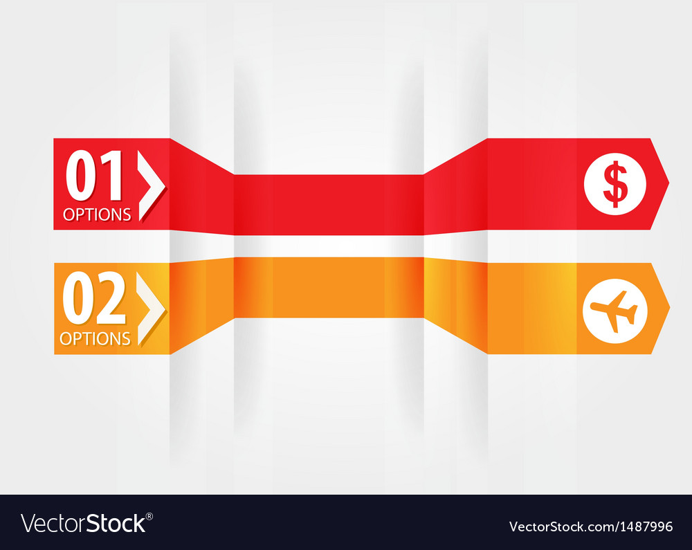 Modern design template with numbered banners vector | Price: 1 Credit (USD $1)