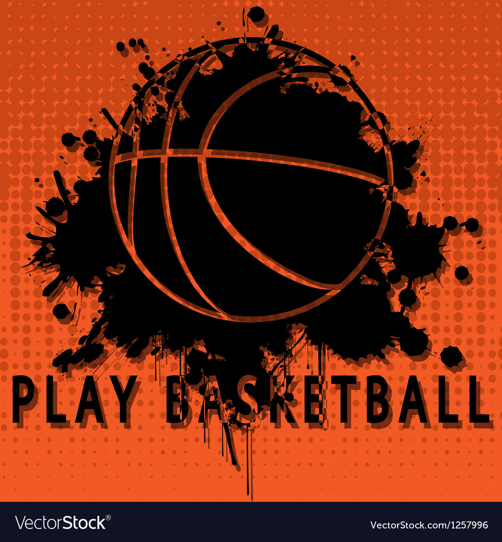 Play basketball vector