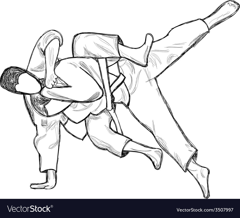 An hand drawn from series martial arts judo vector | Price: 1 Credit (USD $1)