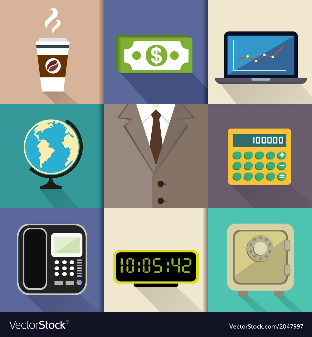 Business suit set vector | Price: 1 Credit (USD $1)