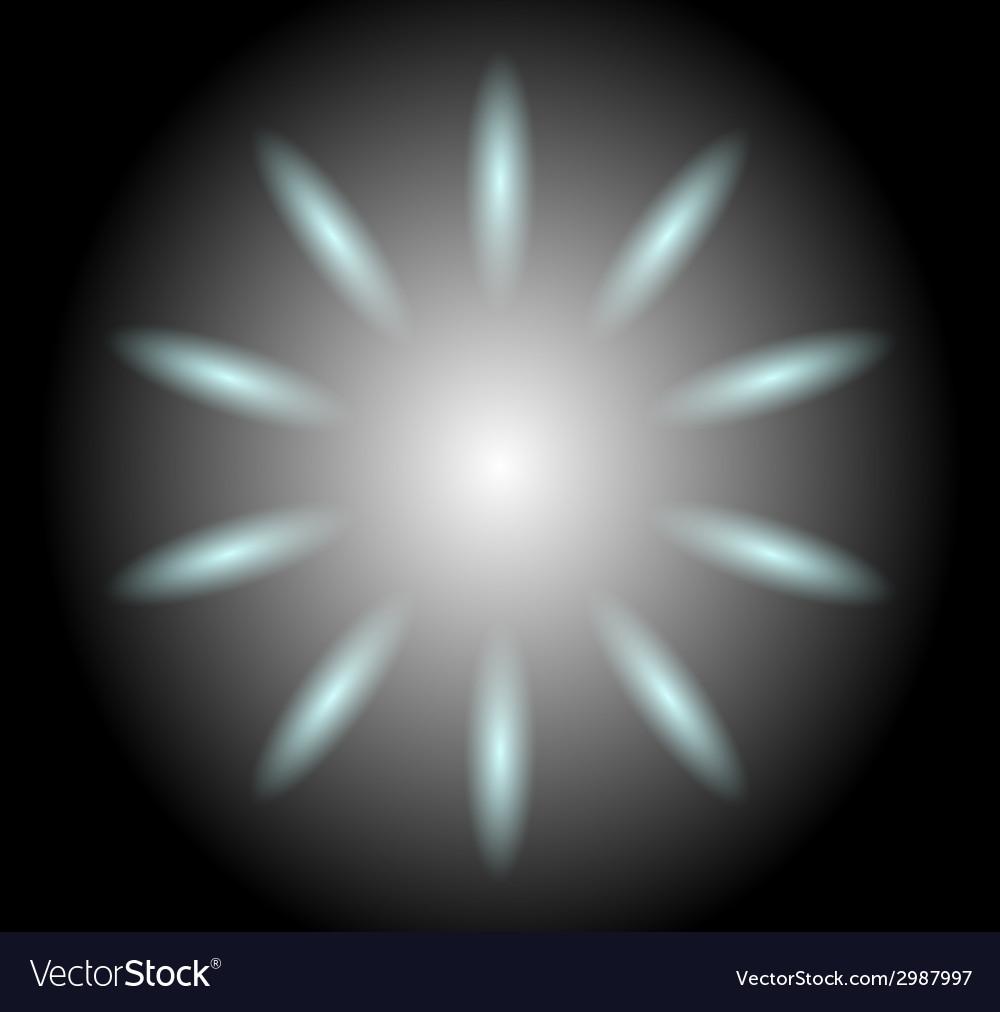 Circular reflections background vector