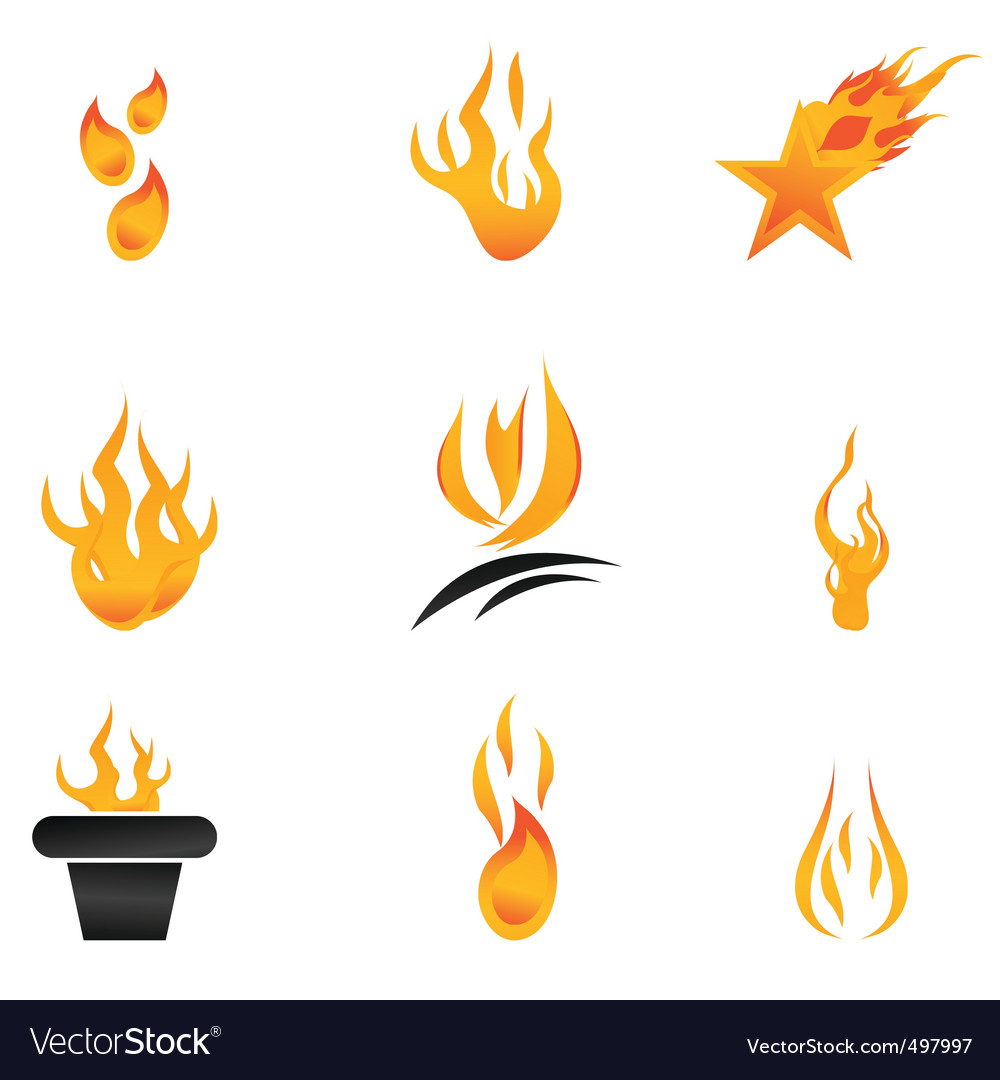 Fire icons vector | Price: 1 Credit (USD $1)